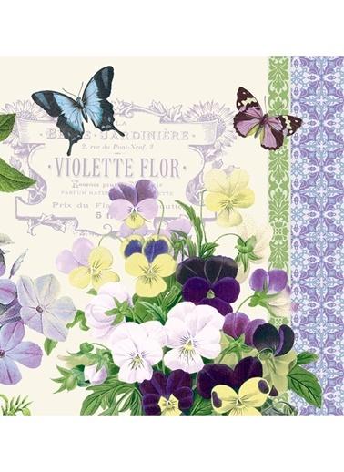 Vintage Violets Küçük Boy Peçete-Dünya Style